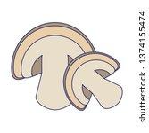 mushroom fresh vegetables food... | Shutterstock .eps vector #1374155474