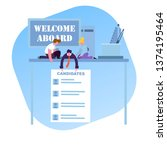 search for a new employee ... | Shutterstock .eps vector #1374195464