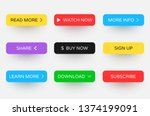 set of colorful web icons or... | Shutterstock .eps vector #1374199091