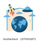 open book with planet earth icon | Shutterstock .eps vector #1374241871