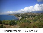 the crimean landscape with... | Shutterstock . vector #137425451