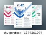 corporate flyer design template ...   Shutterstock .eps vector #1374261074