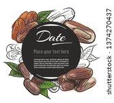 vector sketch date fruit banner ... | Shutterstock .eps vector #1374270437
