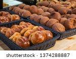 red bean bun and  mexican... | Shutterstock . vector #1374288887