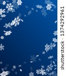 winter snowflakes border cool... | Shutterstock .eps vector #1374292961