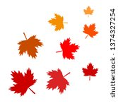 background of a maple leaf. | Shutterstock . vector #1374327254