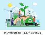 ecology creative illustration... | Shutterstock .eps vector #1374334571