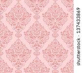 damask seamless pattern for... | Shutterstock .eps vector #137433869