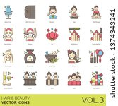 hair and beauty icons including ... | Shutterstock .eps vector #1374343241