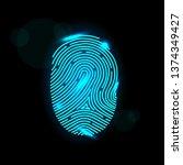 touch id. fingerprint sensors... | Shutterstock . vector #1374349427