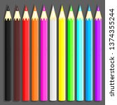 A Set Of Colored Pencils For...