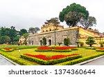 Doan Mon, the main gate of Thang Long Imperial Citadel. UNESCO world heritage in Hanoi, Vietnam