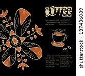 coffee background  label | Shutterstock .eps vector #137436089