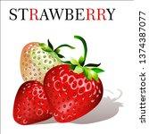strawberry. sweet fruit. ...   Shutterstock .eps vector #1374387077