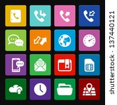 mobile phone icons  colorful... | Shutterstock .eps vector #137440121