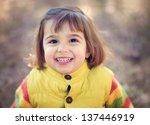 Little Girl Smiling A Big Smile
