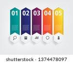 info graphic layout design... | Shutterstock .eps vector #1374478097