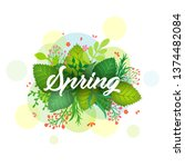 seasonal banner with colorful... | Shutterstock .eps vector #1374482084