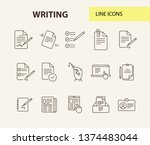 writing icons simple icons... | Shutterstock .eps vector #1374483044
