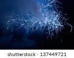blue colorful holiday fireworks ... | Shutterstock . vector #137449721