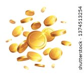 money   gold coins on a... | Shutterstock .eps vector #1374513254