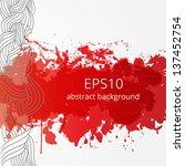 bright grunge background for... | Shutterstock .eps vector #137452754
