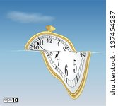 illustration surreal soft clock   Shutterstock .eps vector #137454287