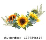 beautiful floral collection... | Shutterstock . vector #1374546614
