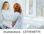 yong beautiful blond ailing...   Shutterstock . vector #1374548774