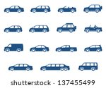 car icons set. vector... | Shutterstock .eps vector #137455499