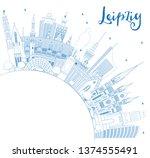 outline leipzig germany city...   Shutterstock .eps vector #1374555491