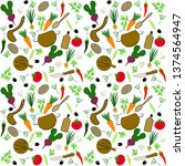 seamless vector pattern with... | Shutterstock .eps vector #1374564947