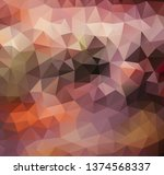 vector background from polygons ...   Shutterstock .eps vector #1374568337