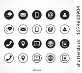 contact us icons. web icon set | Shutterstock .eps vector #1374610904