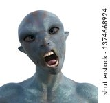 3d Illustration Of An Blue...