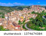 Ragusa, Sicily island, Italy: Panoramic view of Ragusa Ibla, baroque town in Sicily, southern Italy on the island of Sicily