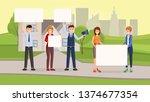 real estate promotional... | Shutterstock .eps vector #1374677354