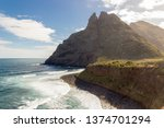 beautiful coastline with green... | Shutterstock . vector #1374701294