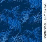 various pen hatches. seamless... | Shutterstock .eps vector #1374712661