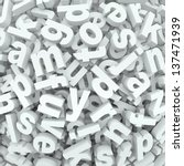 many alphabet letters in a... | Shutterstock . vector #137471939