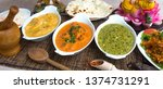 Assorted Indian Food With...