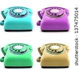 old retro phones | Shutterstock . vector #137475014