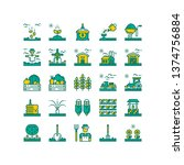 agriculture icons. farming icon ...   Shutterstock .eps vector #1374756884