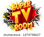 super tv room   vector... | Shutterstock .eps vector #1374758627