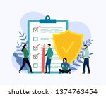 insurance policy concept  data... | Shutterstock .eps vector #1374763454
