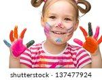 portrait of a cute cheerful... | Shutterstock . vector #137477924