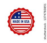 made in usa united states of...   Shutterstock .eps vector #1374783851