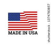made in usa label with united...   Shutterstock .eps vector #1374783857