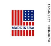 made in usa united states of...   Shutterstock .eps vector #1374784091
