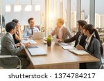 businesspeople discussing... | Shutterstock . vector #1374784217
